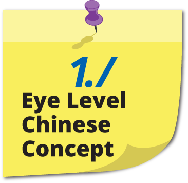 Chinese - eye level chinese concept