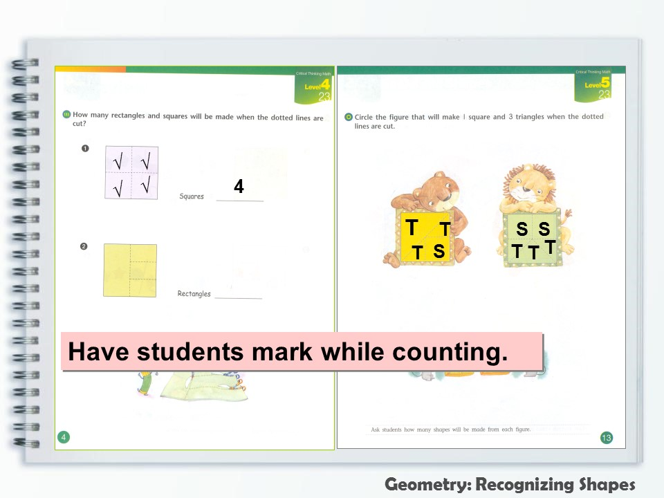 critical thinking exercises - Geometry Mark and Counting